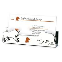982010781-114 - Namesake Business Card Holder with Bull/ Bear Molded Icon - thumbnail