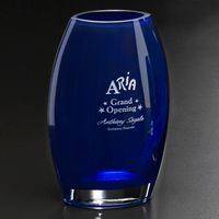 """103388617-133 - Cobalt Oval Vase 12"""" - thumbnail"""