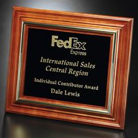"""172556106-133 - Americana Plaque with Black Glass 15-3/4"""" x 12-3/4"""" - thumbnail"""