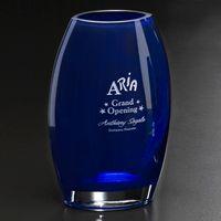 """303388615-133 - Cobalt Oval Vase 10-1/2"""" - thumbnail"""