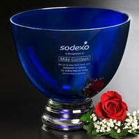 "973388609-133 - Cobalt Pedestal Bowl 8-1/2"" Dia. - thumbnail"