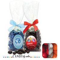 105554331-105 - Stand Up Bag w/ Bow Filled w/ Gumballs - thumbnail