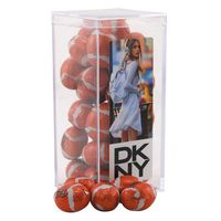 134521578-105 - Acrylic Box w/Chocolate Footballs - thumbnail