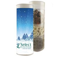 175555118-105 - 3 Piece Holiday Gift Tube w/Pretzels - thumbnail