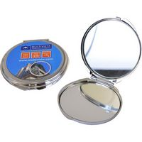 184980592-105 - Round Metal Compact Mirror - Full Color - thumbnail