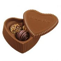 185554193-105 - Molded Chocolate Heart Box w/ Filled Truffles - thumbnail