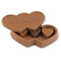 185554495-105 - 6 oz. Custom Triple Chocolate Heart Box w/Stock Chocolate Hearts - thumbnail