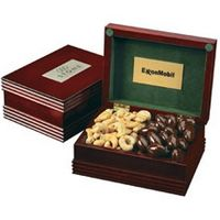 345554210-105 - 2 Confection Deluxe Mahogany Finish Box w/ Engraved Plate - thumbnail