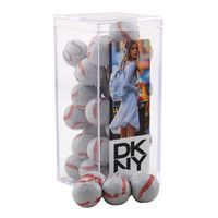 524521603-105 - Acrylic Box w/Chocolate Baseballs - thumbnail