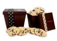585555085-105 - Small Tapered Cookie Box with Milk/Dark/Yogurt Covered Pretzels - thumbnail