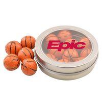 594520702-105 - Round Tin w/Chocolate Basketballs - thumbnail