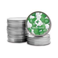 596099461-105 - Silver Tins - No Lid Imprint- 1.5oz. Color Choice M&M'S® - thumbnail