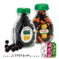 765554454-105 - Milk Pint Glass Bottle Filled w/ Chocolate Buttons - thumbnail