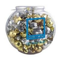 775555112-105 - 1/2 Gallon Plastic Fish Bowl Filled w/Twist Wrapped Truffles - thumbnail