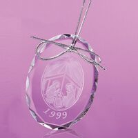 954164026-105 - Logan Oval Shaped Ornament - thumbnail