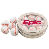 964520694-105 - Round Tin w/Chocolate Baseballs - thumbnail