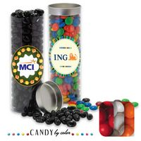 985554393-105 - Silver Top Tube Filled w/ Gumballs - thumbnail