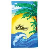 164316653-115 - 14 lb./doz. Beach Scene Beach Towel - thumbnail