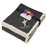 505812826-115 - Field & Co. Heathered Fleece Sherpa Blanket w/Card - thumbnail