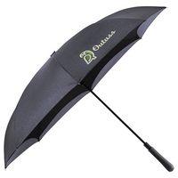 "545911108-115 - 48"" Auto Close Heathered Inversion Umbrella - thumbnail"
