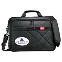 "713675984-115 - Case Logic® Cross-Hatch 17"" Computer Briefcase - thumbnail"