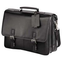 943676086-115 - Kenneth Cole® Manhattan Leather Computer Messenger - thumbnail