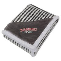 945783300-115 - Field & Co.® Chevron Striped Sherpa Blanket - thumbnail