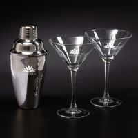 315278194-116 - Martini Shaker Set w/ 2 Glasses - thumbnail