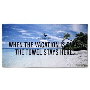 706517709-116 - 25% Polyester/75% Cotton Blended Beach Towel 30x60 - thumbnail