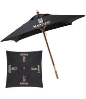 153861585-154 - 7' Wooden Market Umbrella - thumbnail
