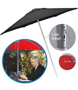 734303470-154 - 7' Solar USB Market Umbrella - thumbnail