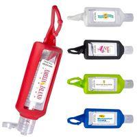 165667117-159 - 1 Oz. Hand Sanitizer w/Silicone Holder - thumbnail