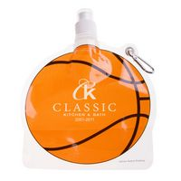 525127182-159 - HydroPouch™ 24 Oz. Basketball Collapsible Water Bottle - thumbnail