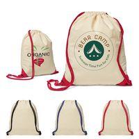 556089586-159 - 5 Oz. Cotton Ridge Accent Corner Drawstring Backpack - thumbnail