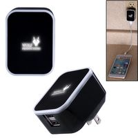 585927320-159 - Light-Up-Your-Logo Duo USB Wall Charger - thumbnail