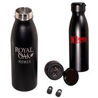 595710589-159 - 20 Oz. Bluetooth® Earbud Stainless Steel Vacuum Bottle - thumbnail
