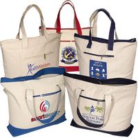 983995846-159 - Zippered Cotton Boat Tote - thumbnail