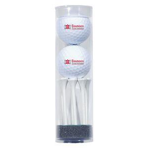 313158004-815 - 2 Golf Ball Tube & 8 Tees - thumbnail