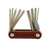 145689254-190 - Bandelier 10-in-1 Folding Tool with Rosewood Handle - thumbnail