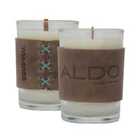 305455037-190 - Harper Leather Wrapped Candle - thumbnail