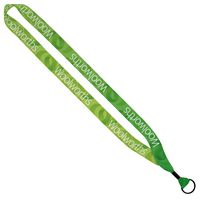 "306242983-190 - 3/4"" Recycled PET Dye-Sublimated Lanyard w/ Metal Crimp & Metal Split-Ring - thumbnail"