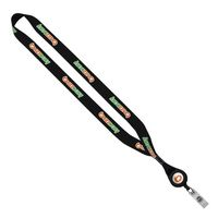 "523705240-190 - 3/4"" Dye-Sublimated Lanyard with Metal Crimp & Retractable Badge Reel - thumbnail"