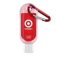 722284102-190 - 1.9 Oz. Tinted Sanitizer w/ Carabiner - thumbnail