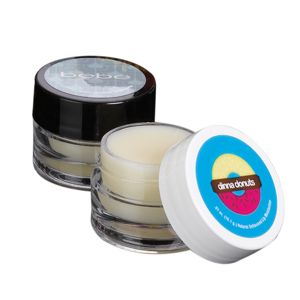 754293822-190 - Natural Lip Balm in Single Round Jar (Black or White Cap) - thumbnail