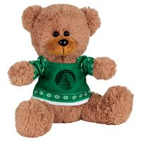 "345156230-103 - 8"" Ugly Sweater Sitting Plush Bear - thumbnail"