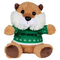 "715156221-103 - 6"" Ugly Sweater Plush Beaver - thumbnail"