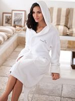 953429843-173 - Cobblestone Mills Hooded Coral Fleece Robe - thumbnail