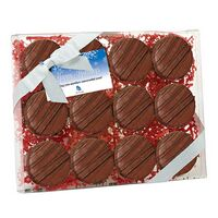114167816-153 - Elegant Chocolate Covered Oreo® Gift Box - Chocolate Drizzle (12 pack) - thumbnail