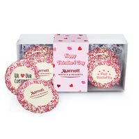 116463522-153 - Custom Sugar Cookie w/ Valentine's Day Sprinkles in Gift Box (12) - thumbnail