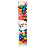 143798552-153 - Large Tubes with Clear Cap w/ Gumballs (6.9 Oz.) - thumbnail